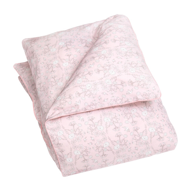 Bird's Song Baby Duvet Set, Pink