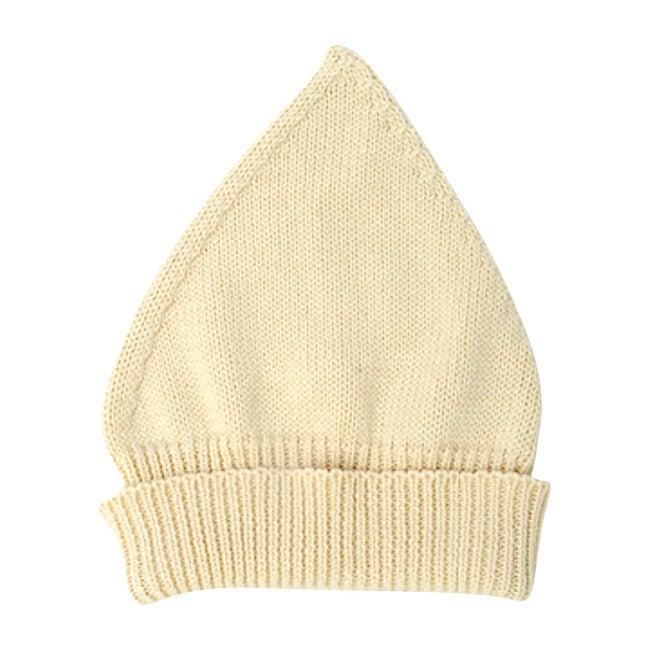 Gnome Knit Bonnet, Cream Cotton