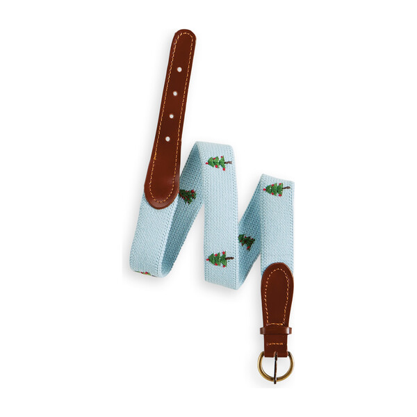 Holiday Embroidered Belt, Christmas Trees