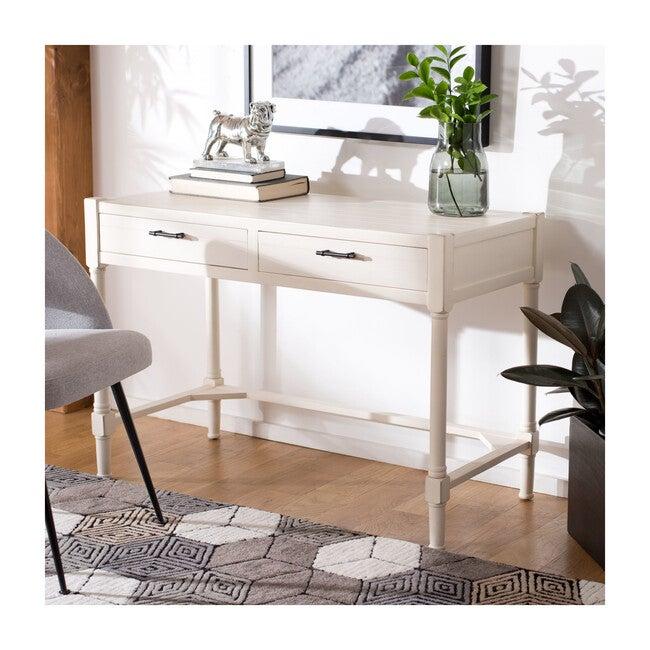 Filbert Writing Desk, Distressed White