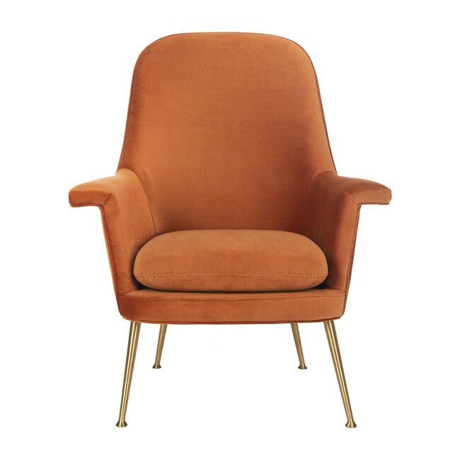 Aimee Velvet Armchair, Sienna