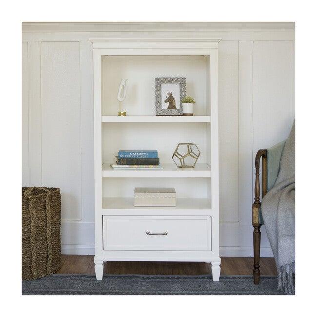 Darlington Assembled Bookcase, Warm White