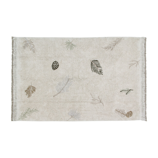 Pine Forest Washable Rug, Multi