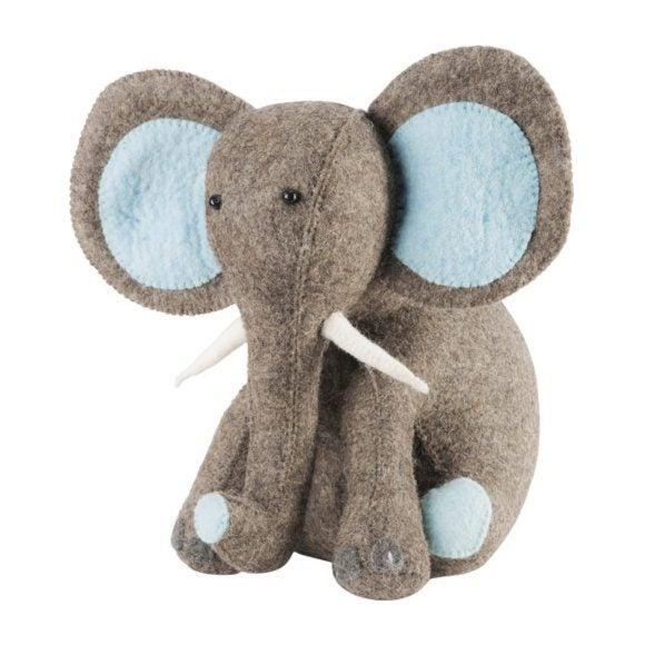 Elephant Door Stop, Blue