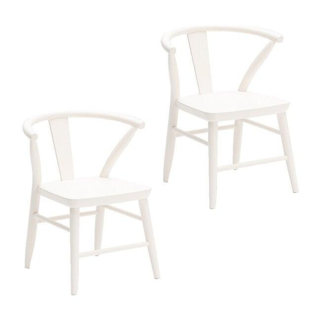 Crescent Chair Pair, White