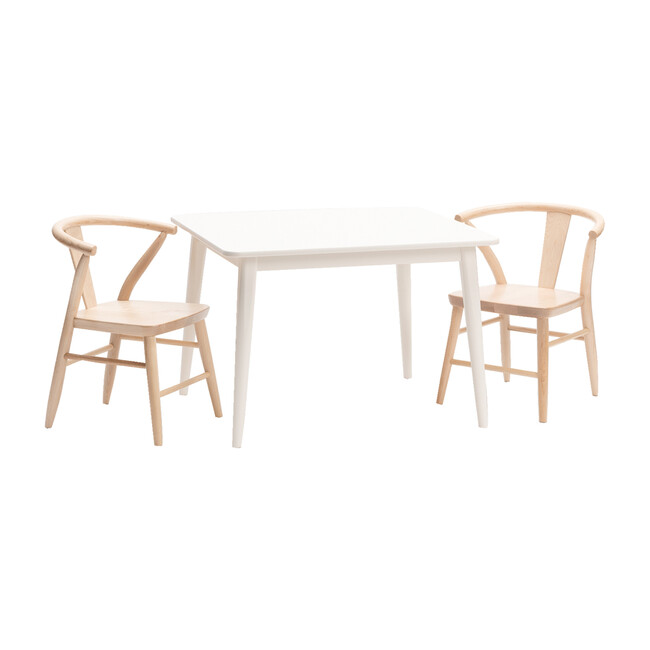 Crescent Chair Pair, Natural