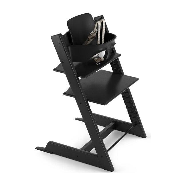 Tripp Trapp® High Chair (includes Tripp Trapp® + Baby set), Black - Highchairs - 1