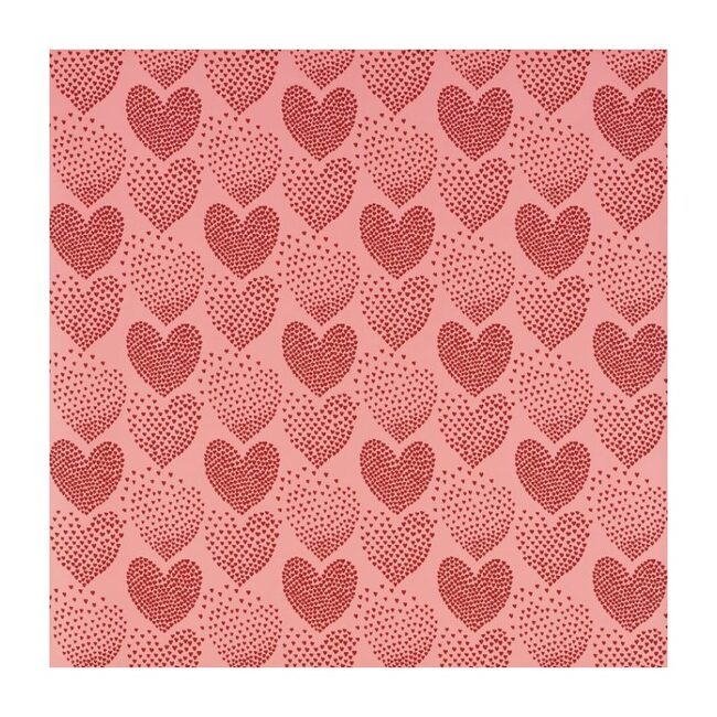 Heart of Hearts Wallpaper, Red/Pink