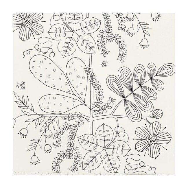 Blommen Wallpaper, Noir/Blanc