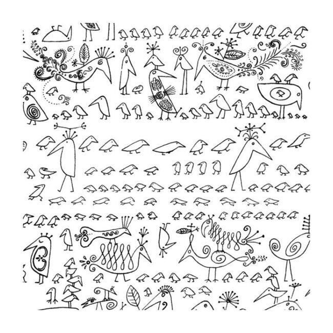 Aviary Wallpaper, Black