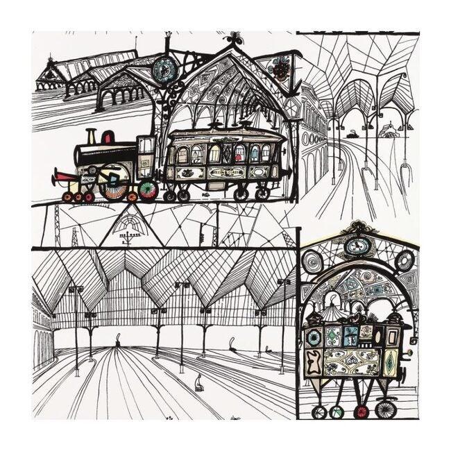 Trains Wallpaper, Multi