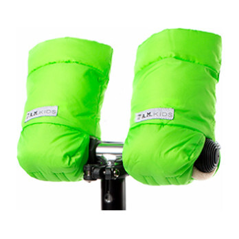 Kids Warmmuffs, Neon Green