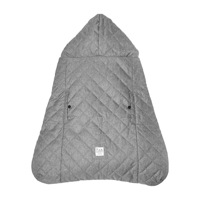 K-Poncho Carrier Cover, Heather Grey Plush