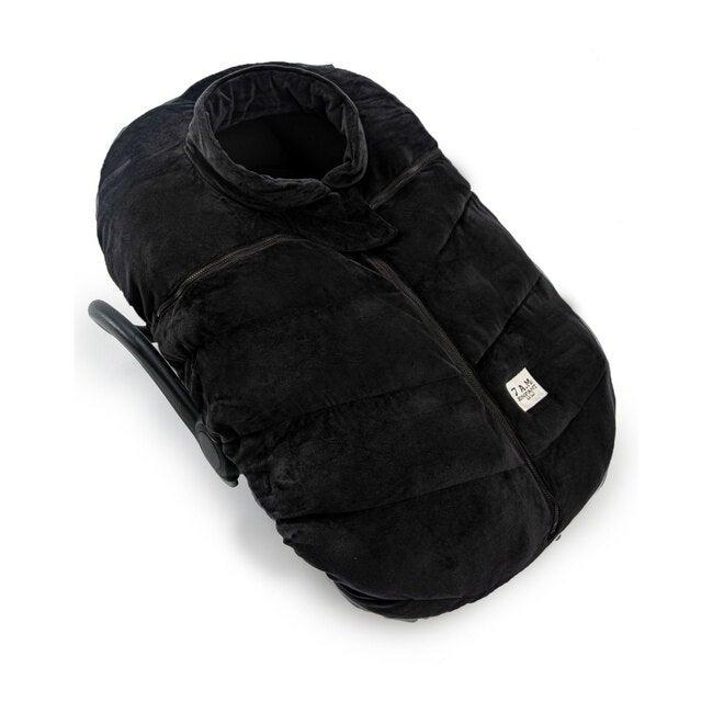 Car Seat Cocoon, Black Velour