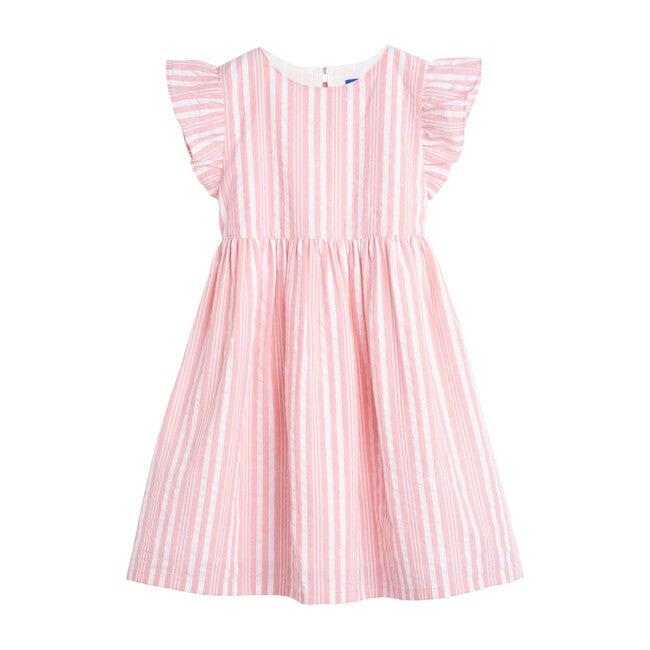 Lottie Dress, Candy Pink Stripe