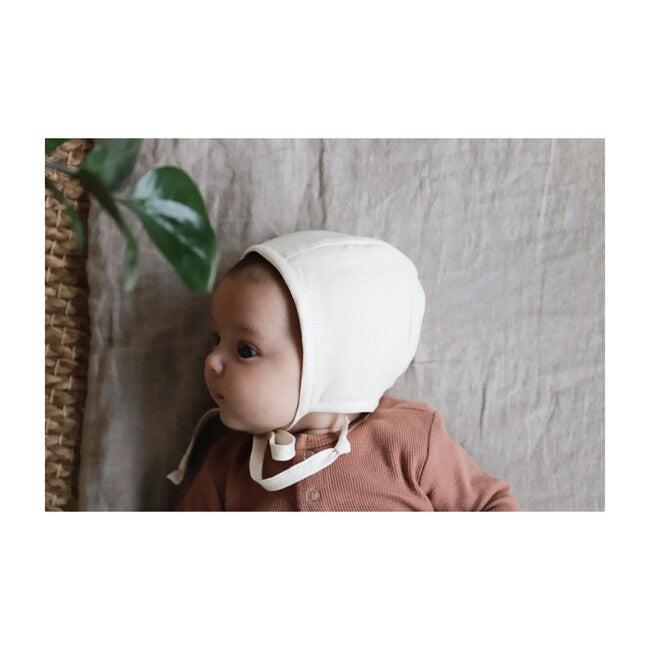 Ivory Linen Bonnet