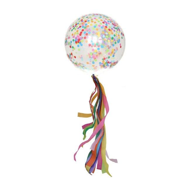 Confetti Balloon with Rainbow Confetti Tassel Kit, Over the Rainbow