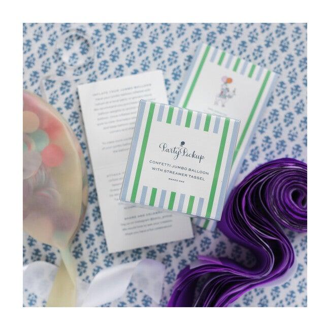 Confetti with Purple Multi Streamer Tassel Kit, Unicorn