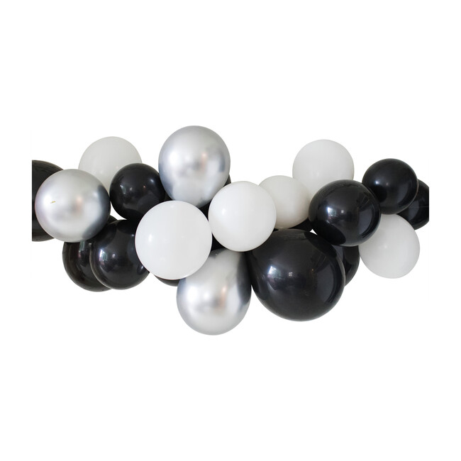 Balloon Garland Kit, Black and Silver