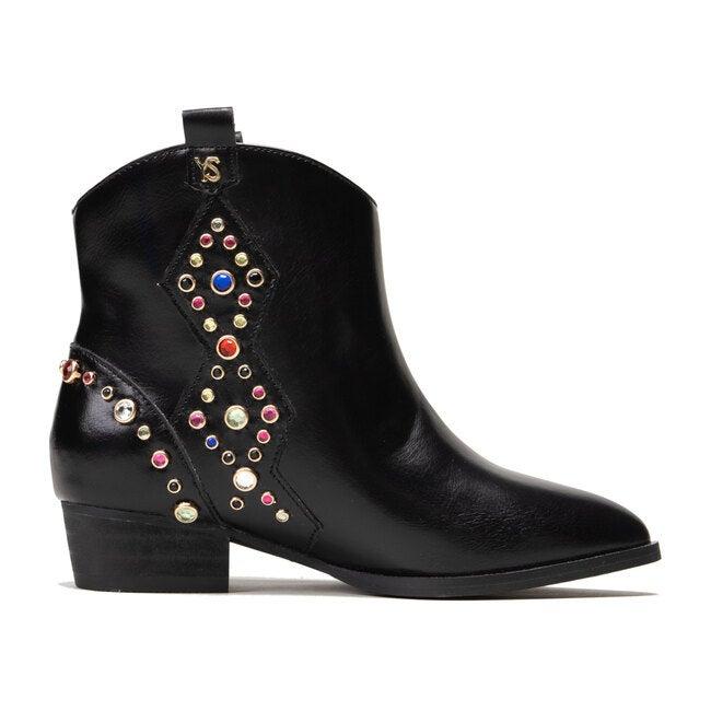Miss Dallas Embellished Boot, Black