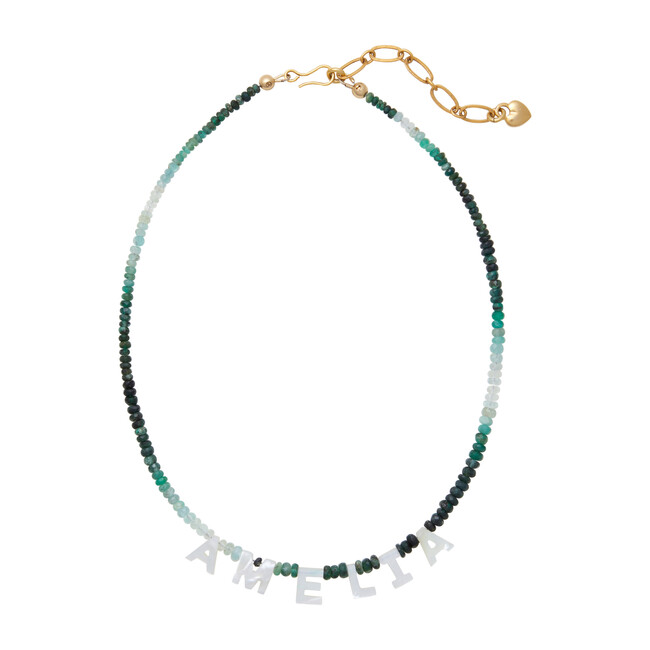 Say My Name Necklace, Emerald