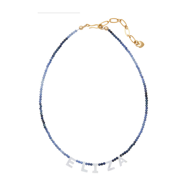 Say My Name Necklace, Sapphire