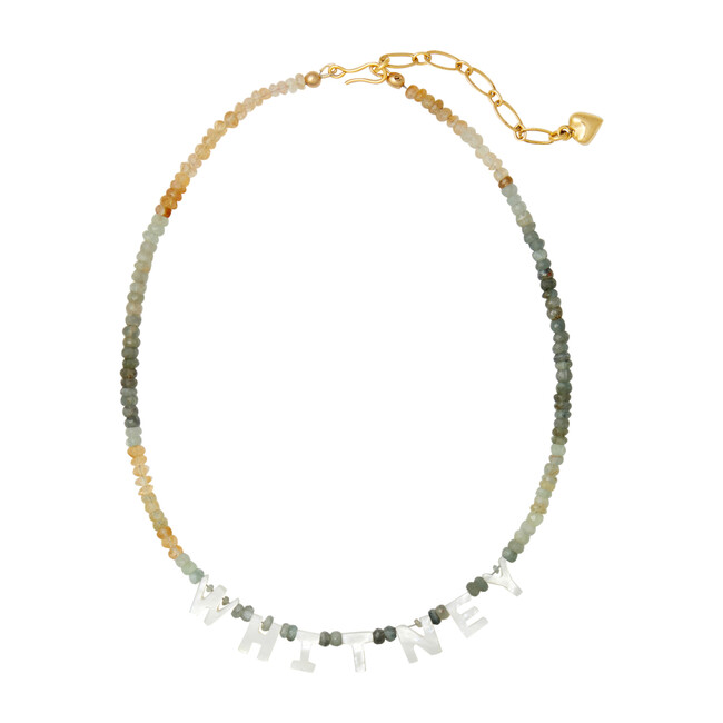 Say My Name Necklace, Beryl Ombre