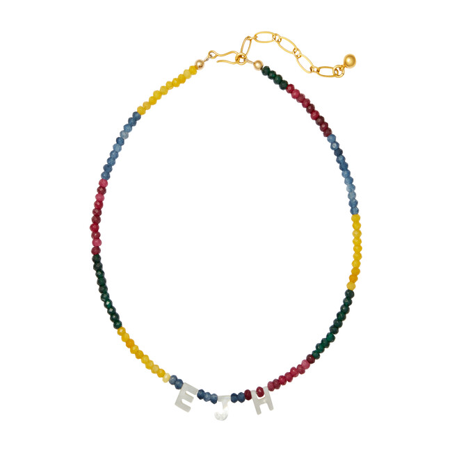 Say My Name Necklace, Colorblock
