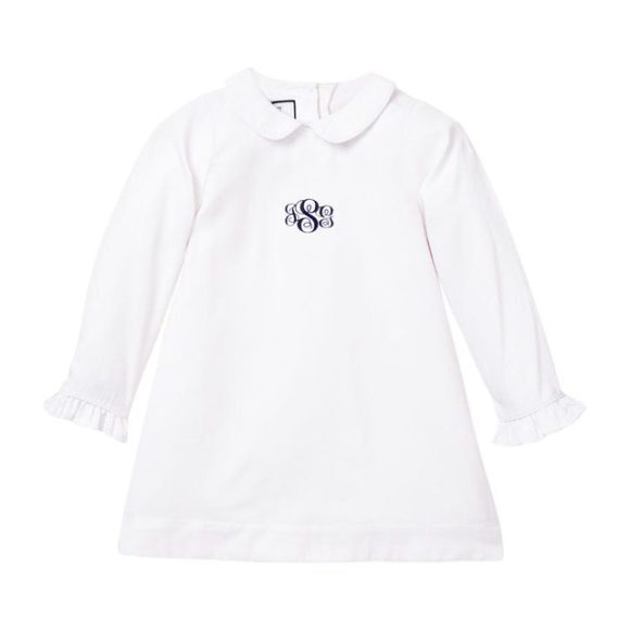 Monogrammed Sophia Nightgown, White