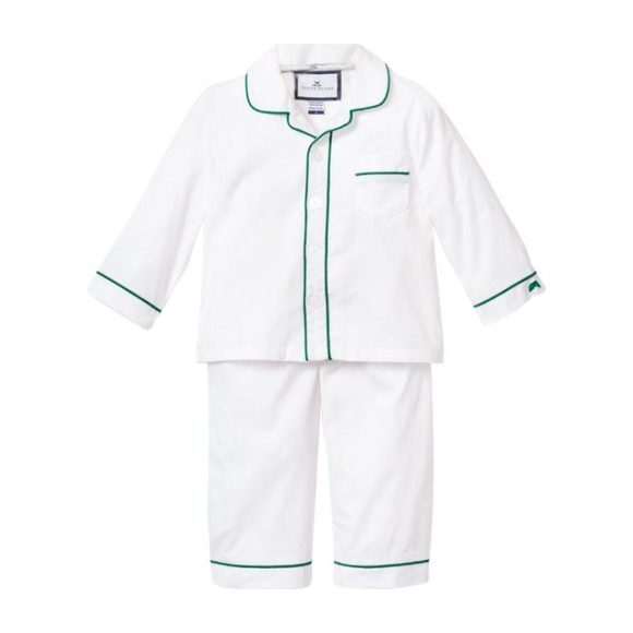 White Pajamas, Forest Green Double Piping