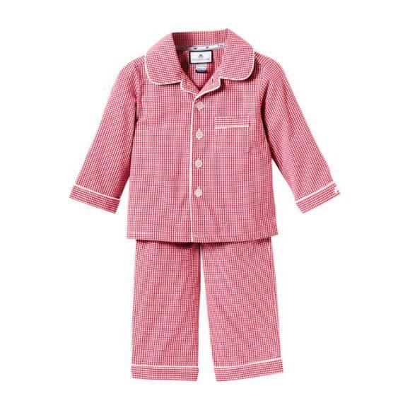 Red Mini-Gingham Pajamas