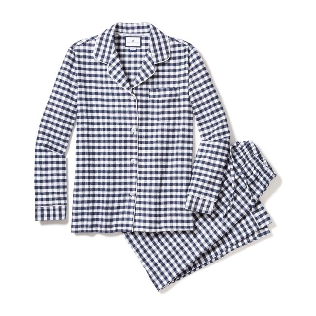 Women's Pajama Set, Navy Gingham