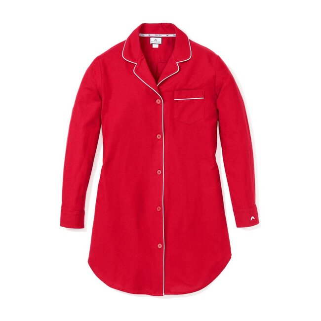 Women's Nightshirt, Red Flannel