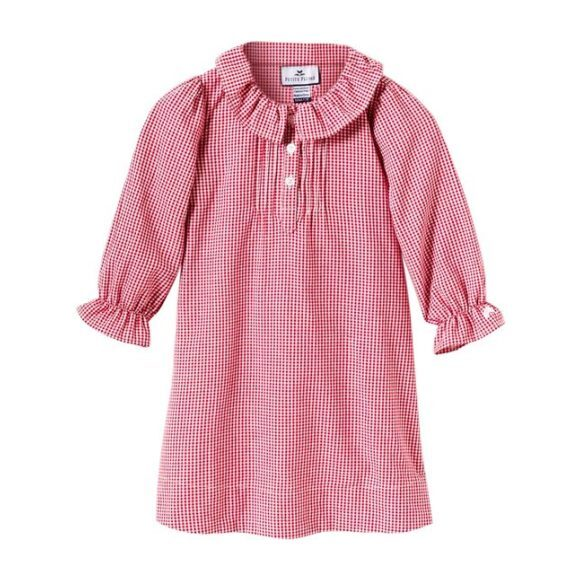 Red Mini-Gingham Victoria Nightgown