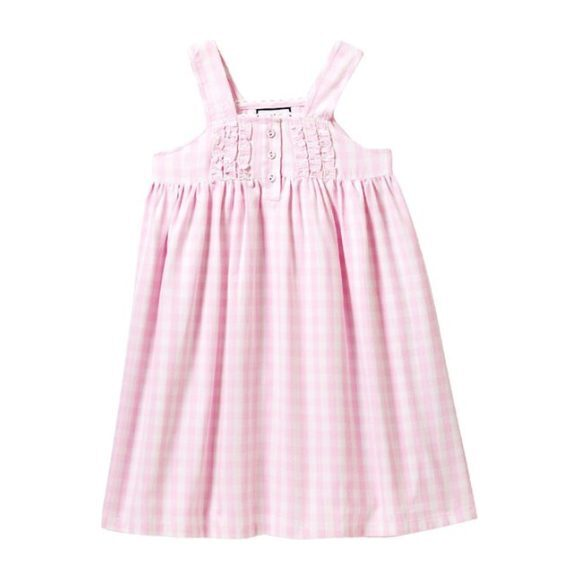 Charlotte Nightgown, Pink Gingham