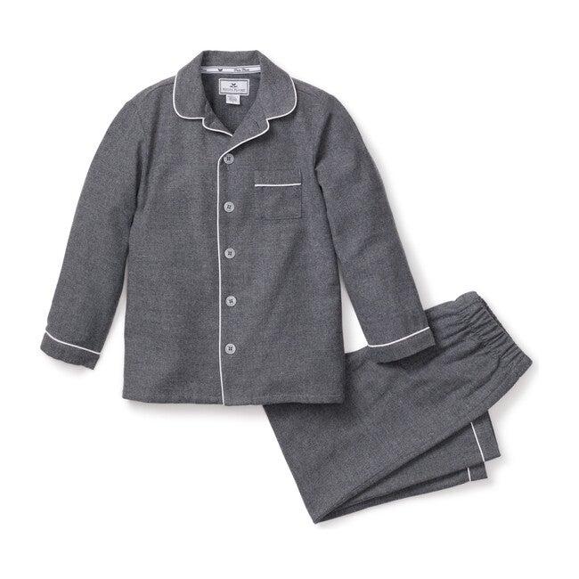 Pajama Set, Heather Grey Flannel