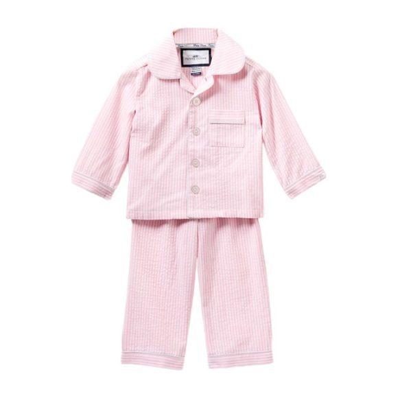 Pink Seersucker Pajamas