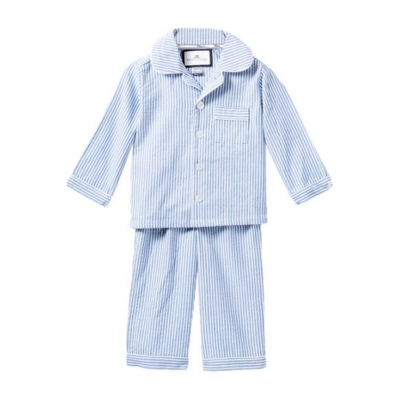 Blue Seersucker Pajamas