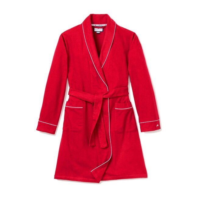 Men's Flannel Robe, Red