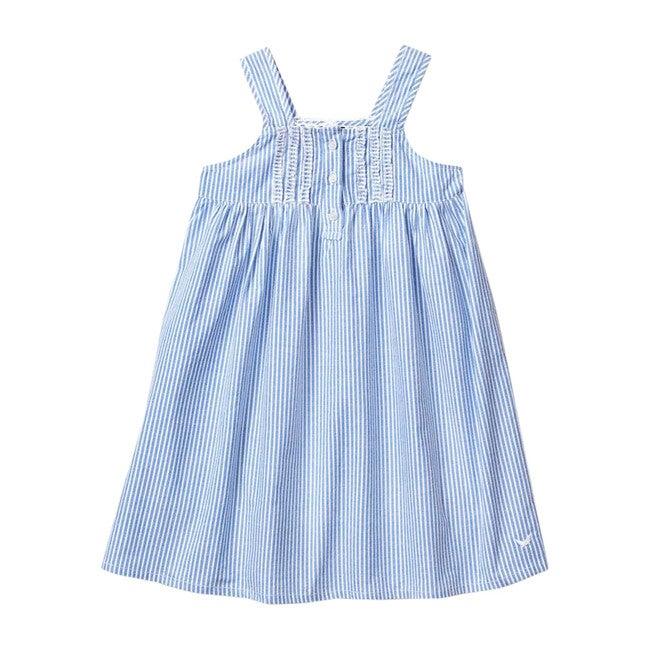 French Blue Seersucker Charlotte Nightgown
