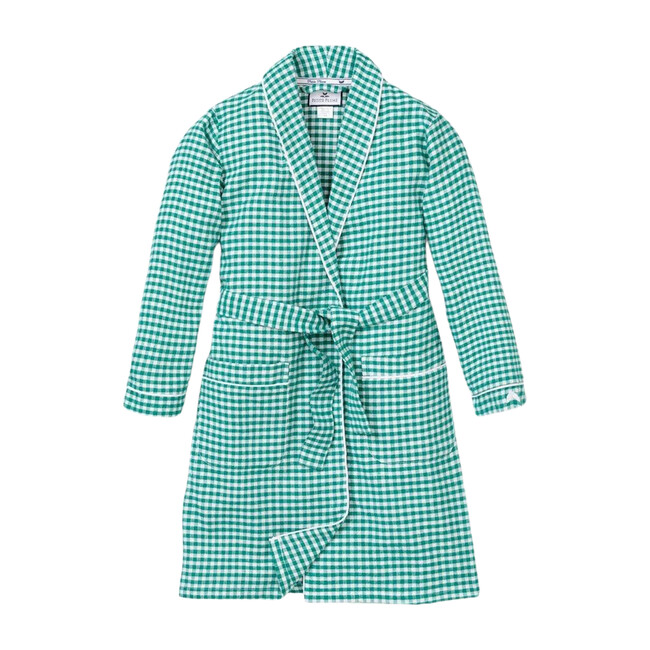 Green Gingham Flannel Robe