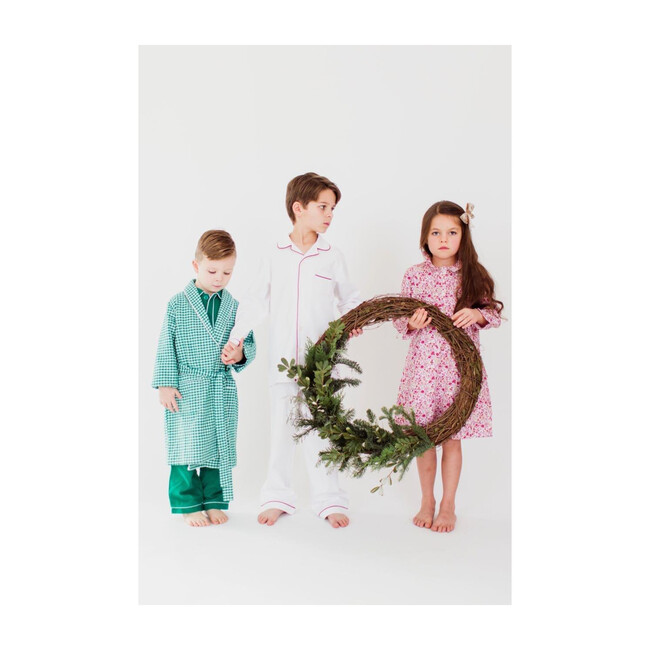 Green Gingham Flannel Robe