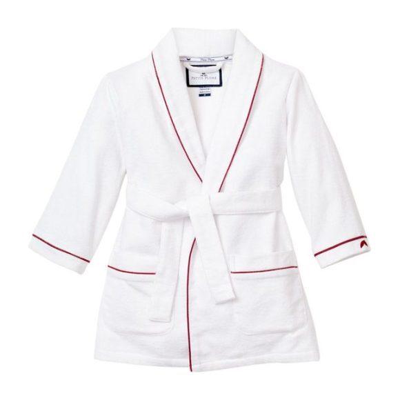 White Robe, Garnet Red Piping - Robes - 1