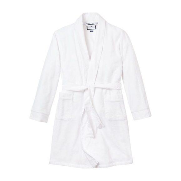Classic White Flannel Robe