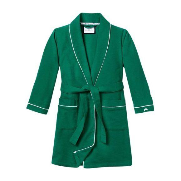 Classic Green Flannel Robe