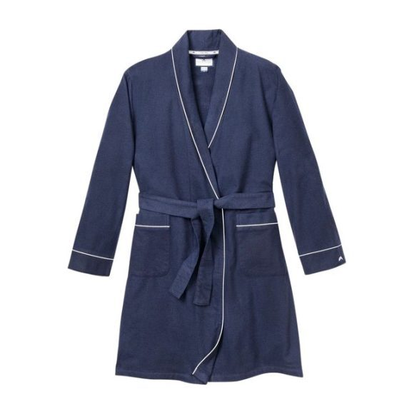 Classic Navy Flannel Robe