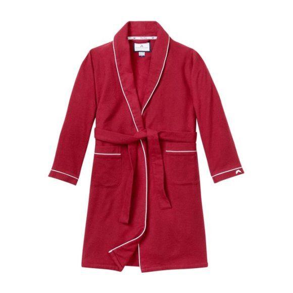 Classic Burgundy Flannel Robe