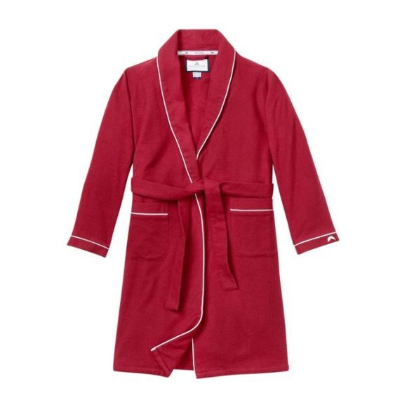 Classic Burgundy Flannel Robe