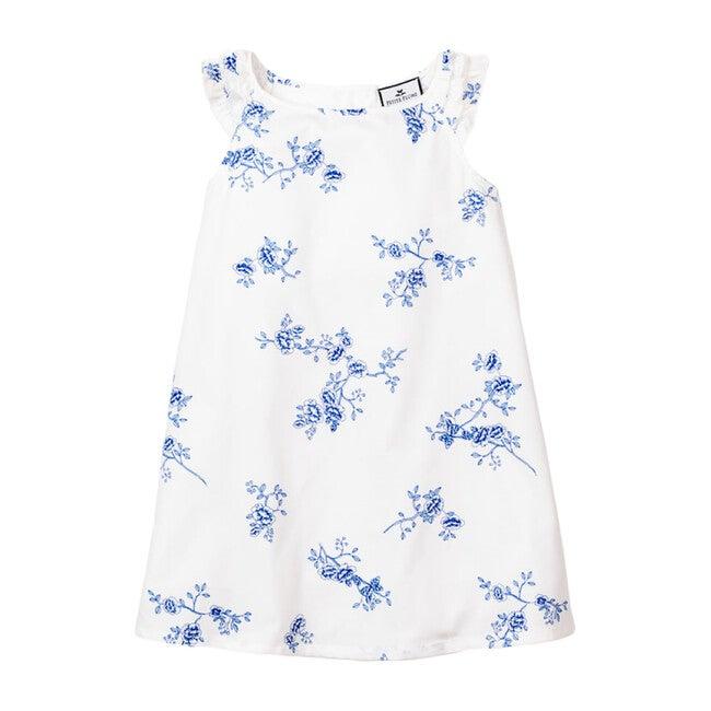 Amelia Nightgown, Indigo Floral - Pajamas - 1