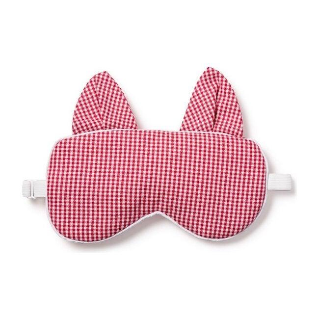 Adult Kitty Eye Mask, Red Mini Gingham